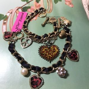 Betsey charm bracelets 2, hearts, crystals, cute!